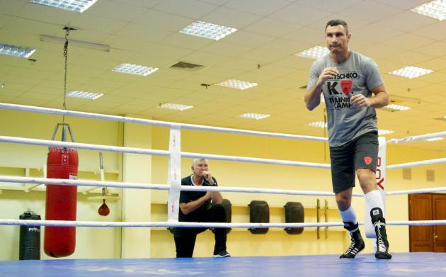 Тренировка Виталия Кличко