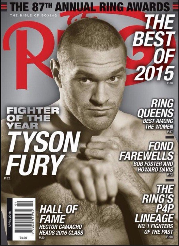 Тайсон Фьюри стал «Боксером года» по версии The Ring Magazine
