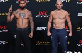 Фото: Взвешивание участников UFC on ESPN 17