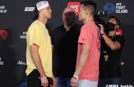 Фото: Взвешивание участников UFC Fight Night 180
