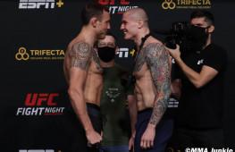 Фото: Взвешивание участников UFC on ESPN 19