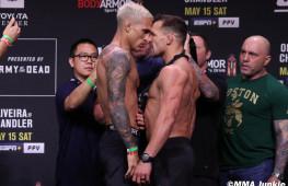 Фото: Взвешивание участников UFC 262