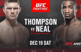Прямая трансляция UFC Fight Night 183