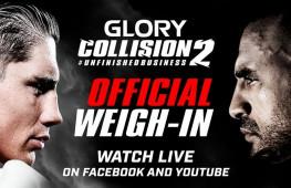 GLORY Collision 2: Официальное взвешивание (видео)