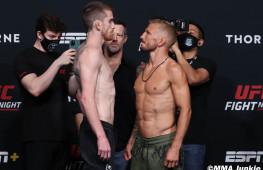 Фото: Взвешивание участников UFC on ESPN 27