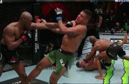 Лучшие моменты боя Усман-Бернс на UFC 258 (видео)
