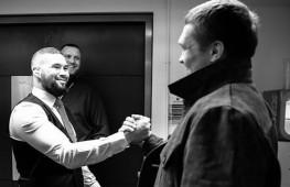 Теплая встреча Усика, Белью и Ломаченко (видео)