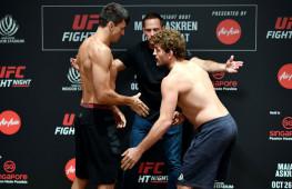Бен Аскрен и Демиан Майя сделали вес перед боем на UFC в Сингапуре