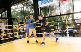 Фото: Открытая тренировка перед вечером бокса Власов-Чилемба в Геленджике