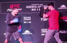 Открытая тренировка бойцов UFC Серроне-Яквинта