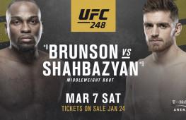 Бой Холм-Алдана отложен, поединок Брансон-Шахбазян станет главным событием UFC Fight Night 173