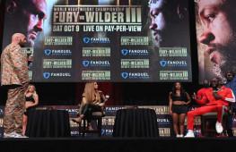 Фьюри и Уайлдер обошлись без обмена взглядами на пресс-конференции
