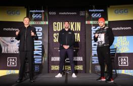 Геннадий Головкин и Камиль Шеремета на пресс-конференции