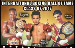 Холифилд, Баррера и Тапиа будут включены в Зал боксерской славы