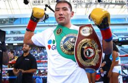 Жанибек Алимханулы завоевал региональные титулы WBO и WBC