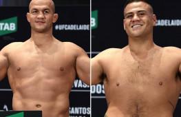 Видео: Взвешивание участников UFC Fight Night 142