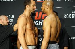 Видео: Взвешивание участников UFC Fight Night 116
