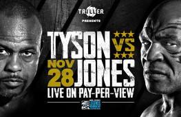 Организаторы подтвердили перенос боя Тайсон-Джонс на 28 ноября