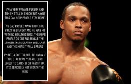 Отец британского боксера Энтони Ярда скончался от коронавируса