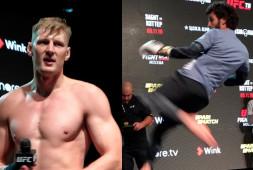 Лучшие моменты открытой тренировки перед UFC Moscow: Магомедшарипов, Каттар, Волков, Харди