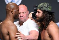 Усман-Масвидаль 2: Битва взглядов и слова перед боем / UFC 261 (видео)