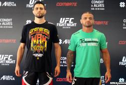 Дуэль взглядов и тренировка бойцов UFC Fight Night 67