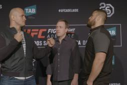 Видео дуэлей взглядов UFC Fight Night 142