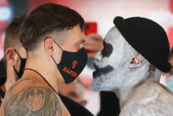 Взвешивание Усик-Чисора: Дерек оказался на 18 кг тяжелее Александра (видео)