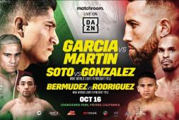 Майки Гарсия встретится с Сандором Мартином 16 октября