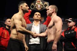 Арсен Гуламирян и Константин Беженару успешно сделали вес к чемпионскому бою