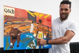 Кадр дня: Джо Джойс нарисовал картину о своей победе над Дюбуа
