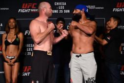 Взвешивание UFC Fight Night 112: Хендрикс не уложился в вес