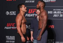 Взвешивание UFC on ESPN 4: Двое тяжеловесов едва уложились в вес