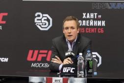 Вице-президент UFC: В следующем году мы проведем один-два турнира в России