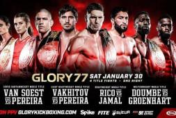 Артем Вахитов и Рико Верхувен выступят на шоу Glory 30 января