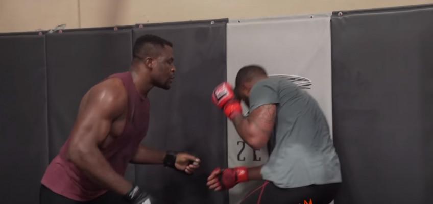 Нганну назвал дату боя с чемпионом UFC Миочичем, показал тренировки по борьбе