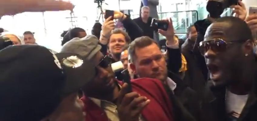 Видео: Перепалка Бриггса и Уайлдера на пресс-конференции Кличко-Дженнингс