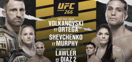 UFC 266: Волкановски-Ортега, Шевченко-Мерфи, Диаз-Лоулер