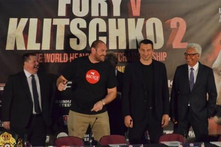 Комментарии Тайсона Фьюри и Владимира Кличко на пресс-конференции