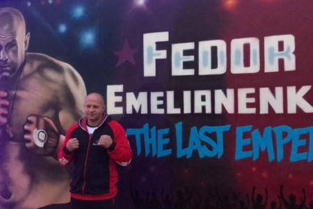 Федор Емельяненко иСоннен провели дуэль взглядов перед Bellator 208